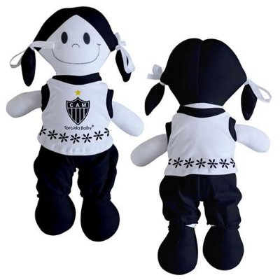 Boneca Torcedora Atlético MG 25cm - Torcida Baby