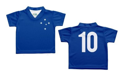 Camiseta Bebê Cruzeiro Azul Oficial - Torcida Baby
