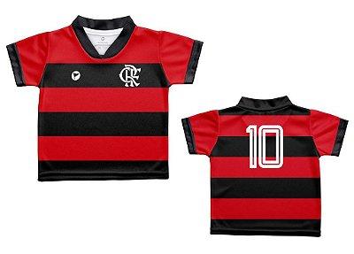 Camiseta Bebê Flamengo Listrada - Torcida Baby