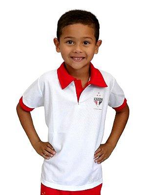 Camisa Polo Infantil São Paulo Oficial Torcida Baby