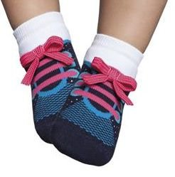 Meia Tênis Botinha Bebê Azul / Pink Puket (15 ao 18)