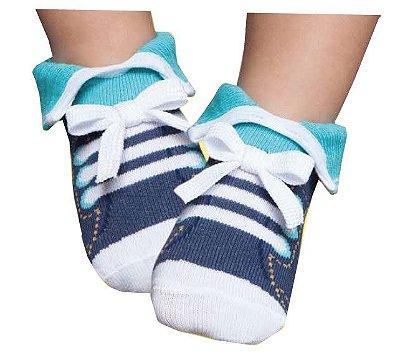Meia Tênis Botinha Bebê Azul Puket (15 ao 18)