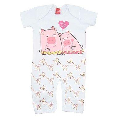 Pijama Get Baby Manga Curta Porquinhas