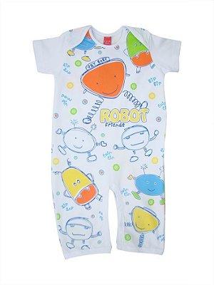 Pijama Bebê Manga Curta Robot Get Baby