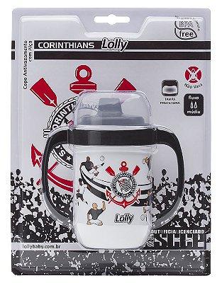 Copo Corinthians Antivazamento com Alça Lolly 250ml