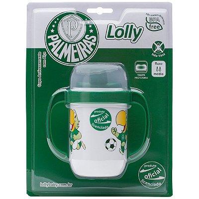 Copo Palmeiras Antivazamento com Alça Lolly 250ml