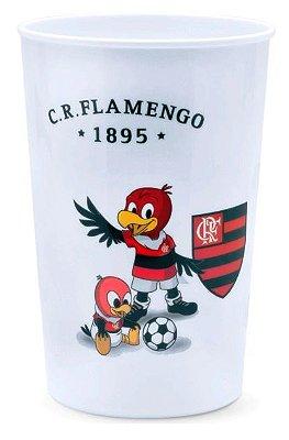Copo Flamengo Plástico Branco Lolly 350ml