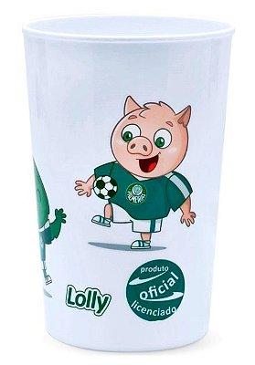 Copo Palmeiras Plástico Branco Lolly 350ml