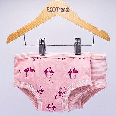 Kit Calcinha Desfralde 2 Pçs Flamingo Ecotrends