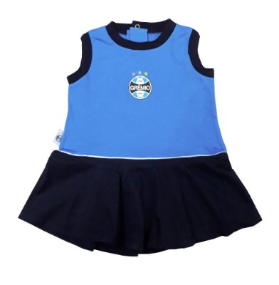 Vestido Infantil Grêmio Regata Oficial