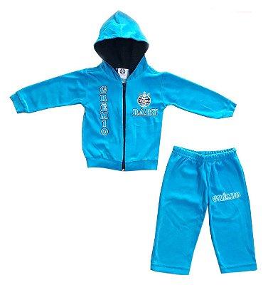 Agasalho Infantil Grêmio Plush Azul Oficial