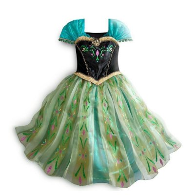 Vestido Infantil Anna Frozen Coroação
