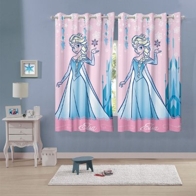 Cortina Infantil Elsa Frozen 1,50 m x 1,80 m Com 2 peças - Lepper