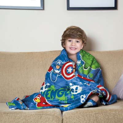 Mantinha Fleece Infantil Avengers Lepper