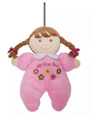 Boneca de Pano Primeira Amiguinha Morena 24cm Buba