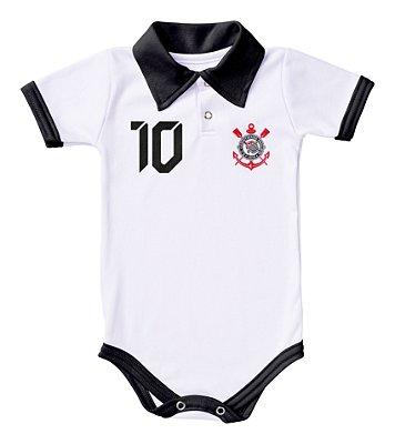 Body Corinthians Polo Branco Torcida Baby