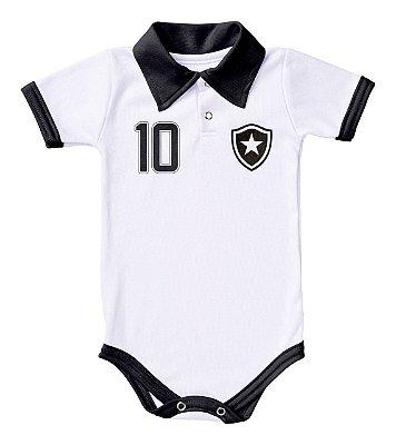 Body Botafogo Polo Branco Torcida Baby