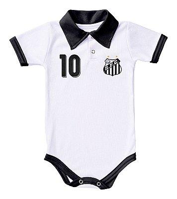 Body Santos Polo Branco Torcida Baby