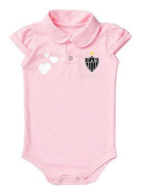 Body Atlético MG Polo Rosa Torcida Baby