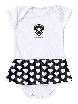 Body Vestido Botafogo Corações Torcida Baby