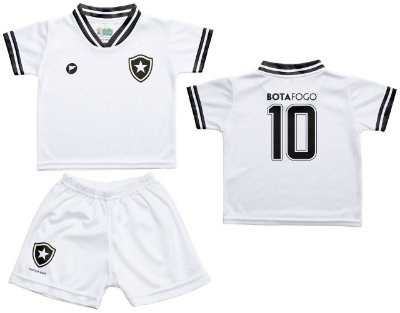 Conjunto Botafogo Uniforme Infantil Branco - Torcida Baby
