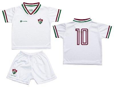Conjunto Fluminense Uniforme Infantil Branco - Torcida Baby