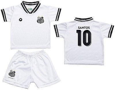 Conjunto Santos Uniforme Infantil Branco - Torcida Baby