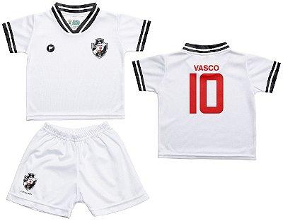 Conjunto Vasco Uniforme Infantil Branco - Torcida Baby