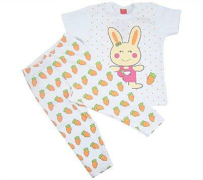 Conjunto Get Baby Manga Curta Coelhinha