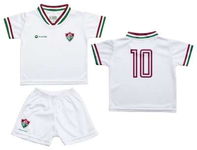 Conjunto Bebê Fluminense Uniforme Branco - Torcida Baby