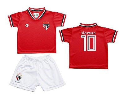 Conjunto Bebê São Paulo Uniforme Vermelho - Torcida Baby