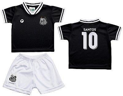 Conjunto Bebê Santos Uniforme Preto - Torcida Baby