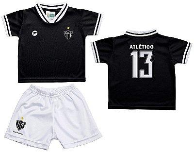 Conjunto Infantil Atlético MG Uniforme Preto - Torcida Baby