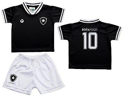 Conjunto Infantil Botafogo Uniforme Preto - Torcida Baby