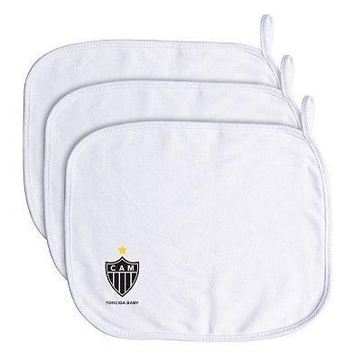 Kit 3 Toalhinhas de Boca Bebê Atlético MG - Torcida Baby