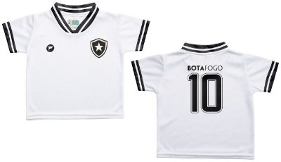 Camiseta Infantil Botafogo Branca - Torcida Baby