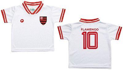 Camiseta Infantil Flamengo Branca - Torcida Baby