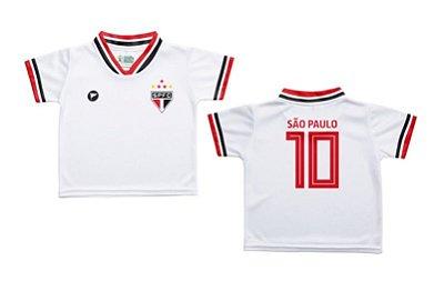 Camiseta Infantil São Paulo Branca - Torcida Baby