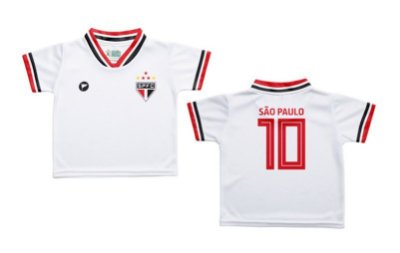 Camiseta Bebê São Paulo Branca - Torcida Baby