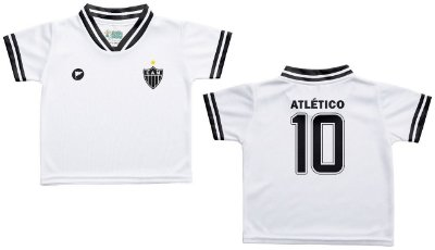Camiseta Bebê Atlético MG Branca - Torcida Baby