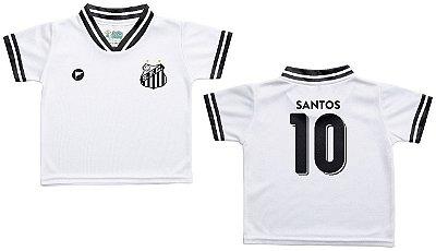 Camiseta Bebê Santos Branca - Torcida Baby