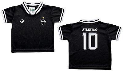 Camiseta Infantil Atlético MG Preta Oficial - Torcida Baby