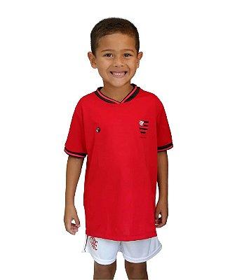 Camiseta Infantil Flamengo Vermelha Oficial - Torcida Baby