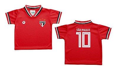 Camiseta Infantil São Paulo Vermelha - Torcida Baby