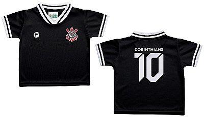 Camiseta Bebê Corinthians Preta - Torcida Baby