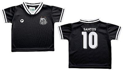 Camiseta Bebê Santos Preta - Torcida Baby