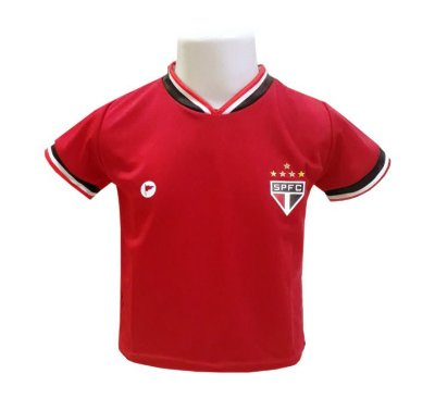 Camiseta Bebê São Paulo Vermelha - Torcida Baby