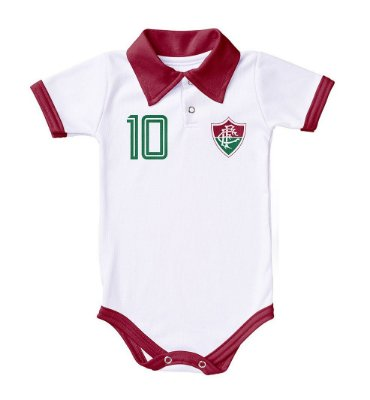 Body Fluminense Polo Branco Torcida Baby