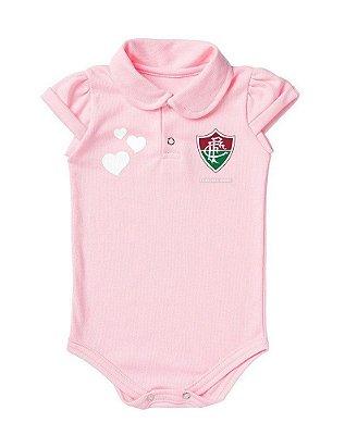 Body Fluminense Polo Rosa Torcida Baby
