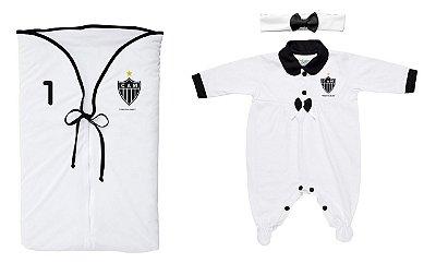 Kit Maternidade Atlético MG Menina Branco - Torcida Baby